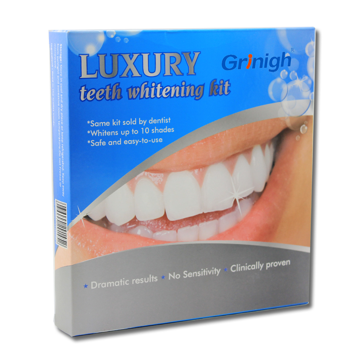 Teeth Whitening Kit With Led Lamp Built In Tray 6 Syringes